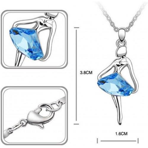Cinderella Fashion Jewelry Dancing Girl Crystal Pendant