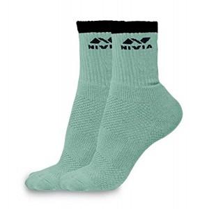 Nivia SS852 Green Sports Cotton Low Ankle Socks