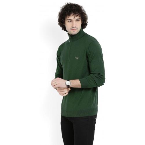 Ljusna Snövit klämma  Buy Gant Solid Turtle Neck Casual Men Dark Green Sweater online ...