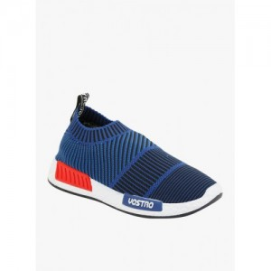 Vostro blue fabric slip on sports shoes