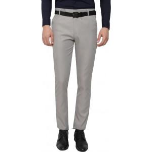 INSPIRE Grey Slim Fit Men's Formal Trousers