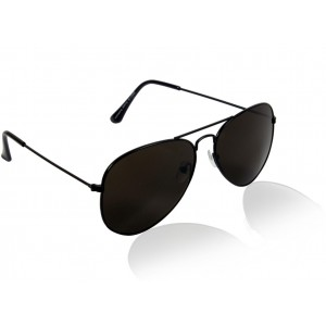 Glitters Black Aviator Sunglasses