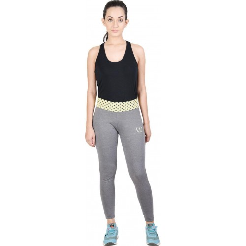 Onesport Solid Women Grey Tights
