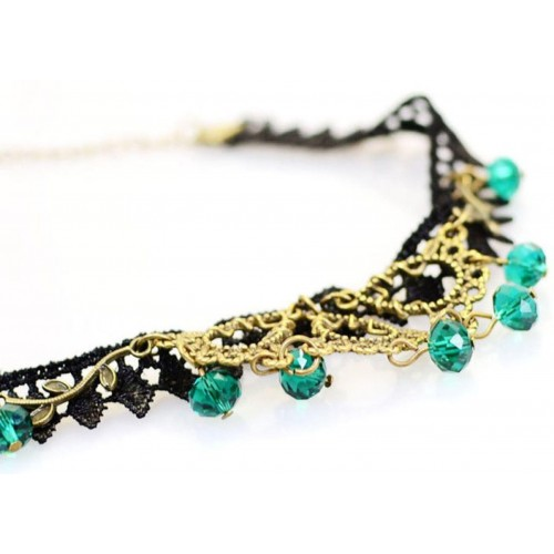 Cinderella Fashion Jewelry Lace Statement Alloy Necklace