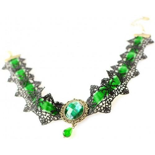 Cinderella Fashion Jewelry Beautiful Statement Lace Alloy Necklace