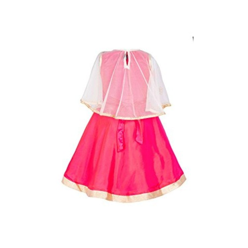 My Lil Princess Baby Girls Birthday Party wear Frock Dress_Pink Poncho_1 - 6 Years