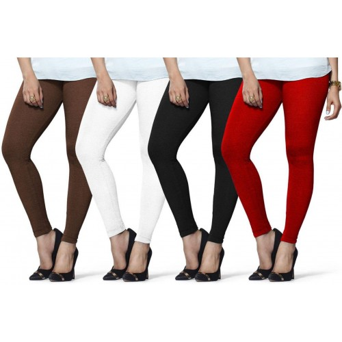 52a4ef221273d Buy Lux Lyra Women's Brown, White, Black, Red Leggings online ...