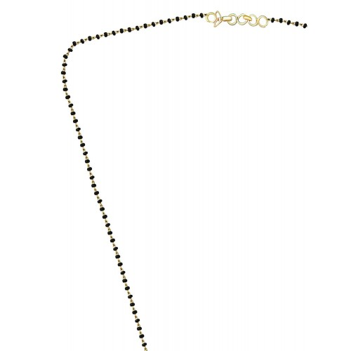 VK Jewels Fancy Gold And Rhodium Plated Mangalsutra Pendant