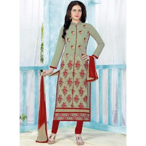 Blissta Green Georgette Embroidered Suit Set