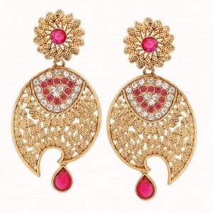 Divastri Peacock Alloy Drop Earring
