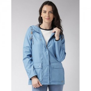 Mast & Harbour Blue Hooded Jacket