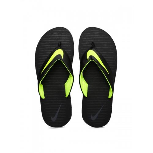 47c1c5758 Buy Nike Men Black CHROMA THONG 5 Printed Flip-Flops online ...