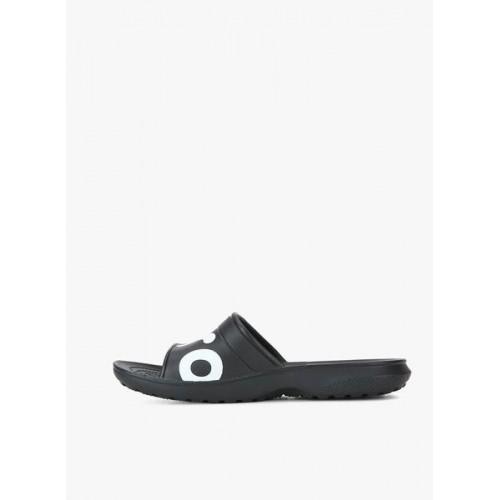 Crocs Classic Graphic Slide Black Flip Flops