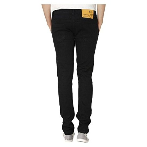 Urbano Fashion Black Denim Slim Fit Stretchable Jeans