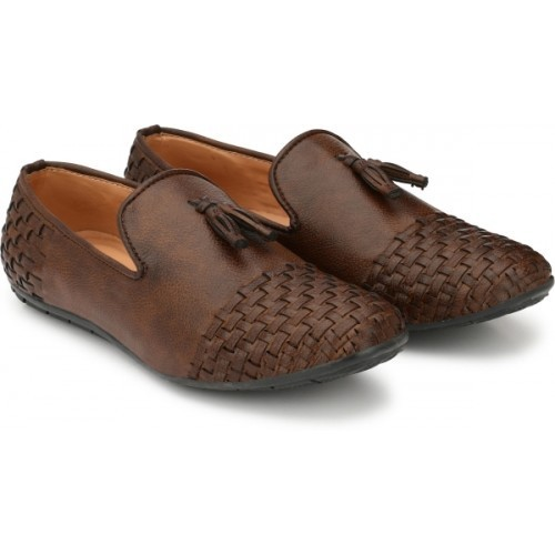 Prolific Brown Synthetic Leather Loafers