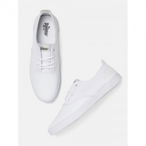 Roadster White Weaved Sneakers