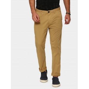 Breakbounce Men Khaki Slim Fit Casual Trousers