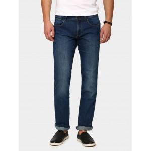 Wrangler Men Dark Blue Regular Fit Stretchable Jeans