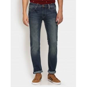 Pepe Men Navy Blue Slim Fit Stretchable Jeans