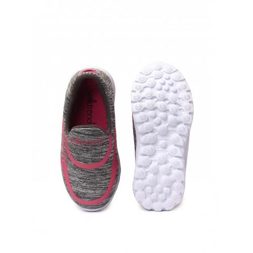 Walktrendy by Walkinlifestyle Girls Grey Printed Slip-On Sneakers