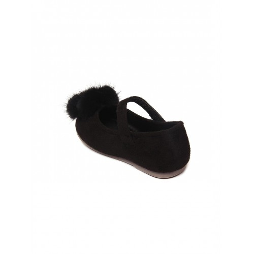 Walktrendy by Walkinlifestyle Black Solid Synthetic Ballerinas