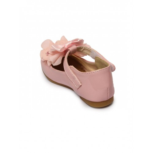 Walktrendy by Walkinlifestyle Peach Solid Synthetic Ballerinas