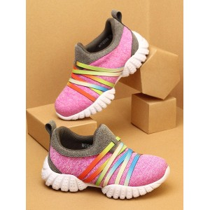 Walktrendy by Walkinlifestyle Girls Pink Slip-On Sneakers