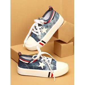 Walktrendy by Walkinlifestyle Navy Blue & White Sneakers