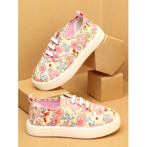 Walktrendy by Walkinlifestyle Pink Floral Print Sneakers