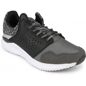 Rich N Topp Black & Gray Low Ankle Sports Shoes