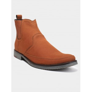 abof Men Tan Brown Boots
