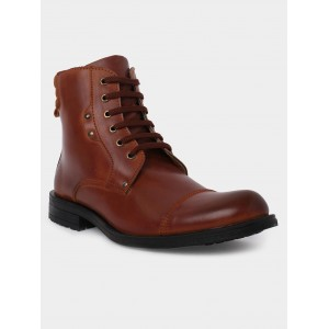 abof Men Tan Brown Ankle Boots