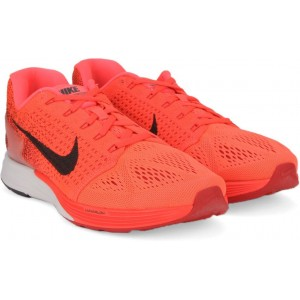 Nike Coral Red LUNARGLIDE 7 Running Shoes