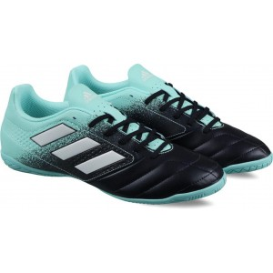 Adidas Black & Turquoise ACE 17.4 IN Football Shoes