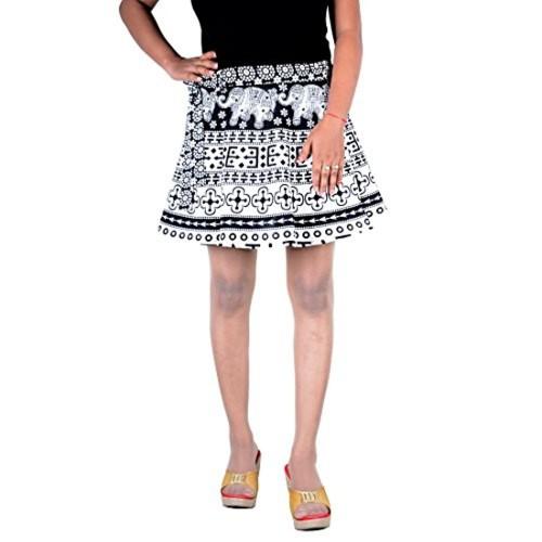 Buy Skirt Cotton Rapron Belly Dance Hippie Skirt Mini Short Sarong Indian Wrap Around Online Looksgud In