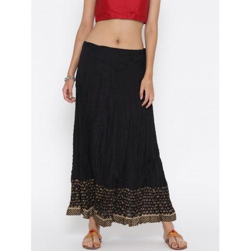Biba Black Flared Maxi Skirt