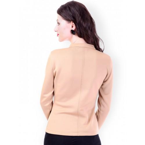 SASSAFRAS Beige Slim Fit Jacket