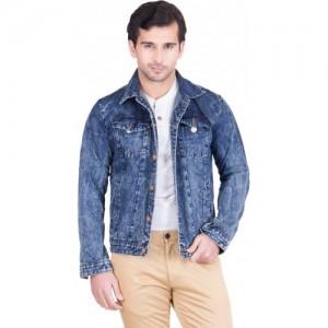 KROSSSTITCH Full Sleeve Solid Men's Denim Jacket