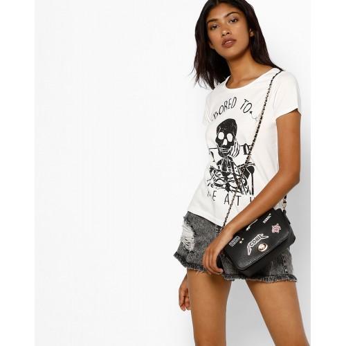 691f7991 Buy AJIO Graphic Print Crew-Neck T-shirt online | Looksgud.in