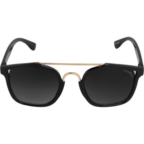 Laurels Black Plastic Wayfarer Sunglasses