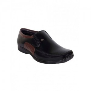 1AAROW black leatherette slip on