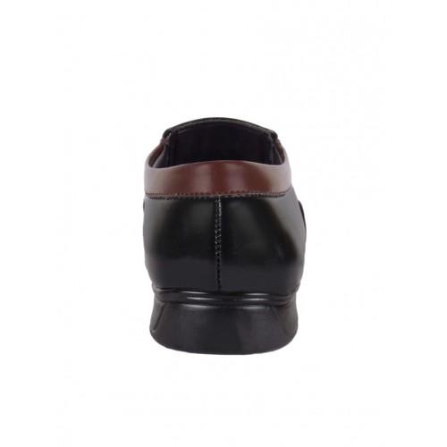1AAROW black leatherette slip on