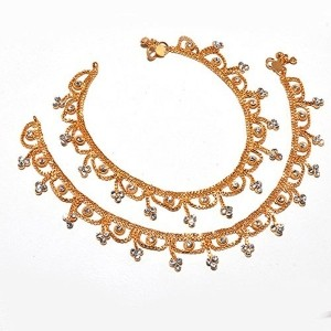 Jewar New Pave Stylish gold plated Anklets for Women