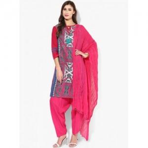 Jaipur Kurti Pink Printed Kurta Patiala Set