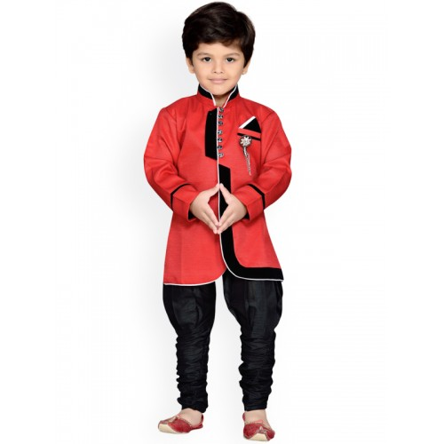 AJ Dezines Red IndoWestern Set
