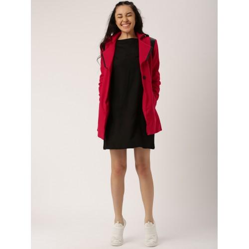 DressBerry Red Woollen Coat