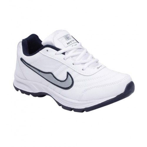 Smart Jaisco White Synthetic Lace Up Running Shoes