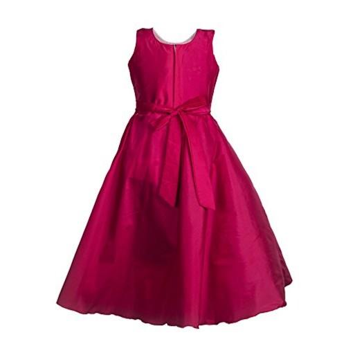 My Lil Princess Pink Taffetta Silk Dress