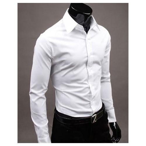 aa12a5b2113 Buy Tom T White Solid Full Sleeve Men s Formal Shirt online ...