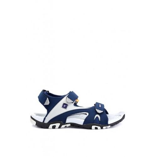 Sparx Blue Leather Flats Sandals